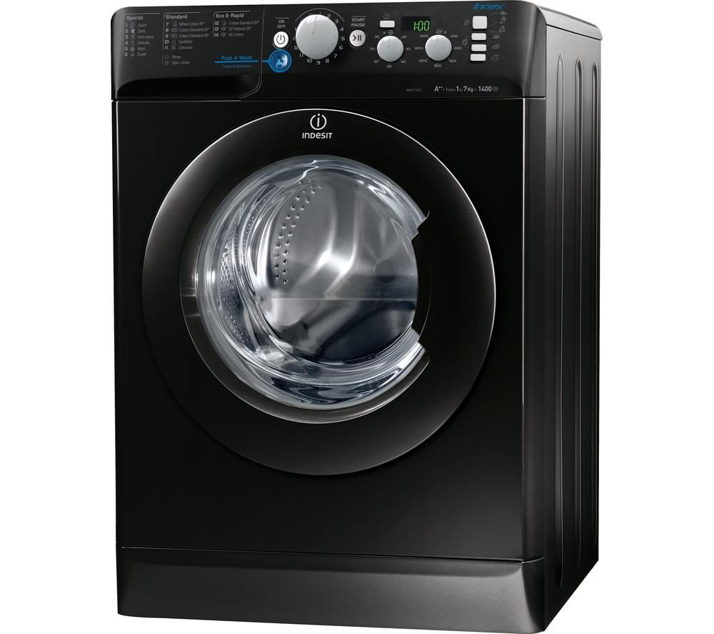 INDESIT Innex XWD71452XK Washing Machine - Black