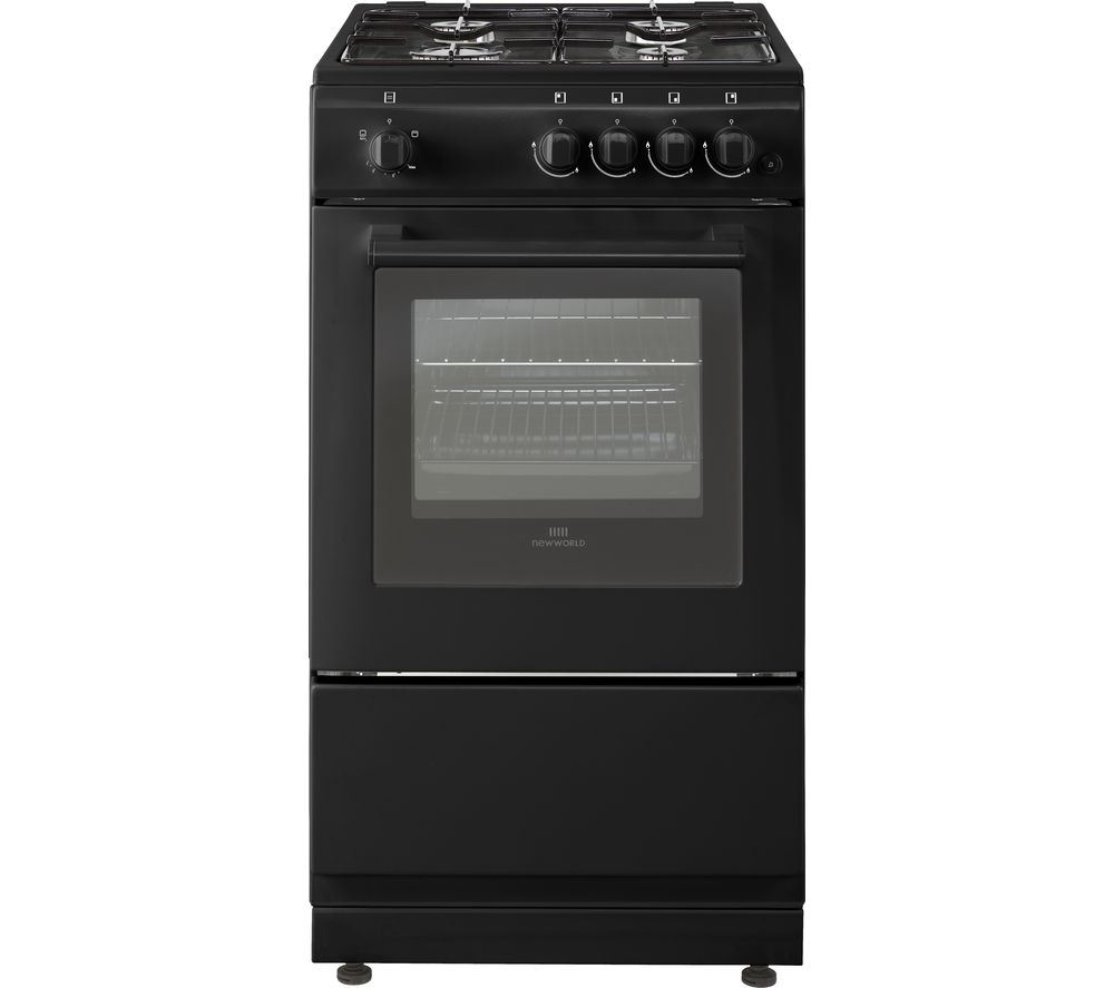 NEW WORLD 50GSO 50 cm Gas Cooker - Black