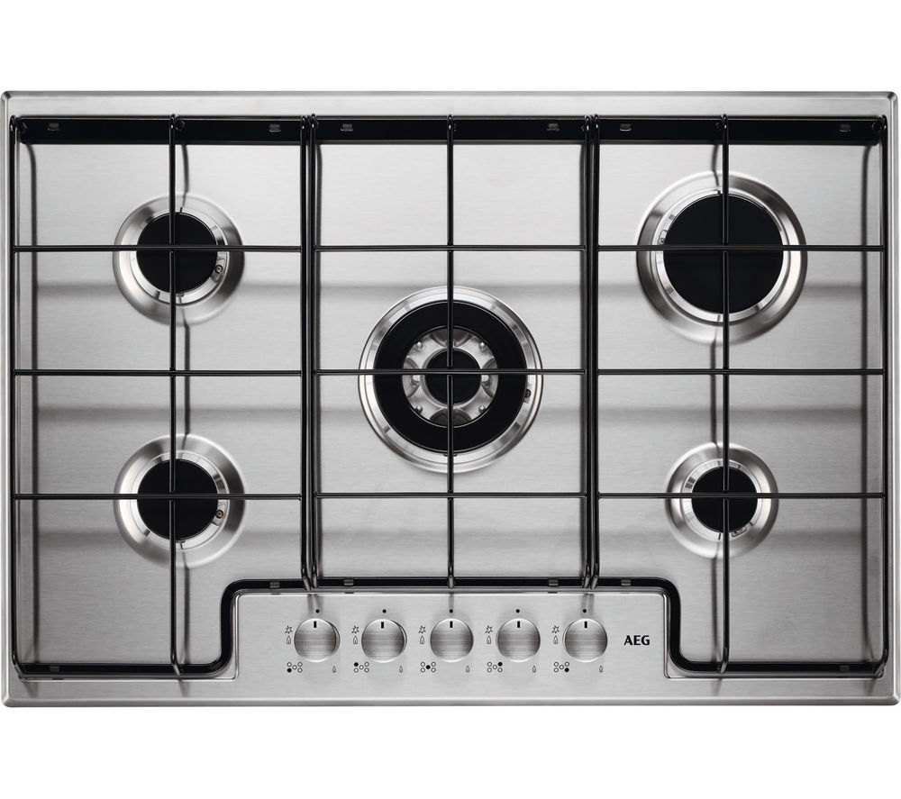AEG  HG745450SM Gas Hob  Stainless Steel Stainless Steel