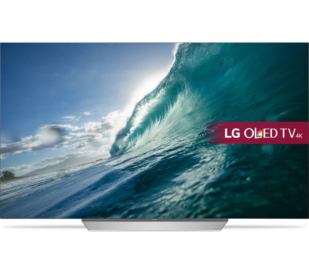 """LG OLED55C7V 55"""" Smart 4K Ultra HD HDR OLED TV + SFLEZ14 Medium to Large Fixed TV Bracket"""