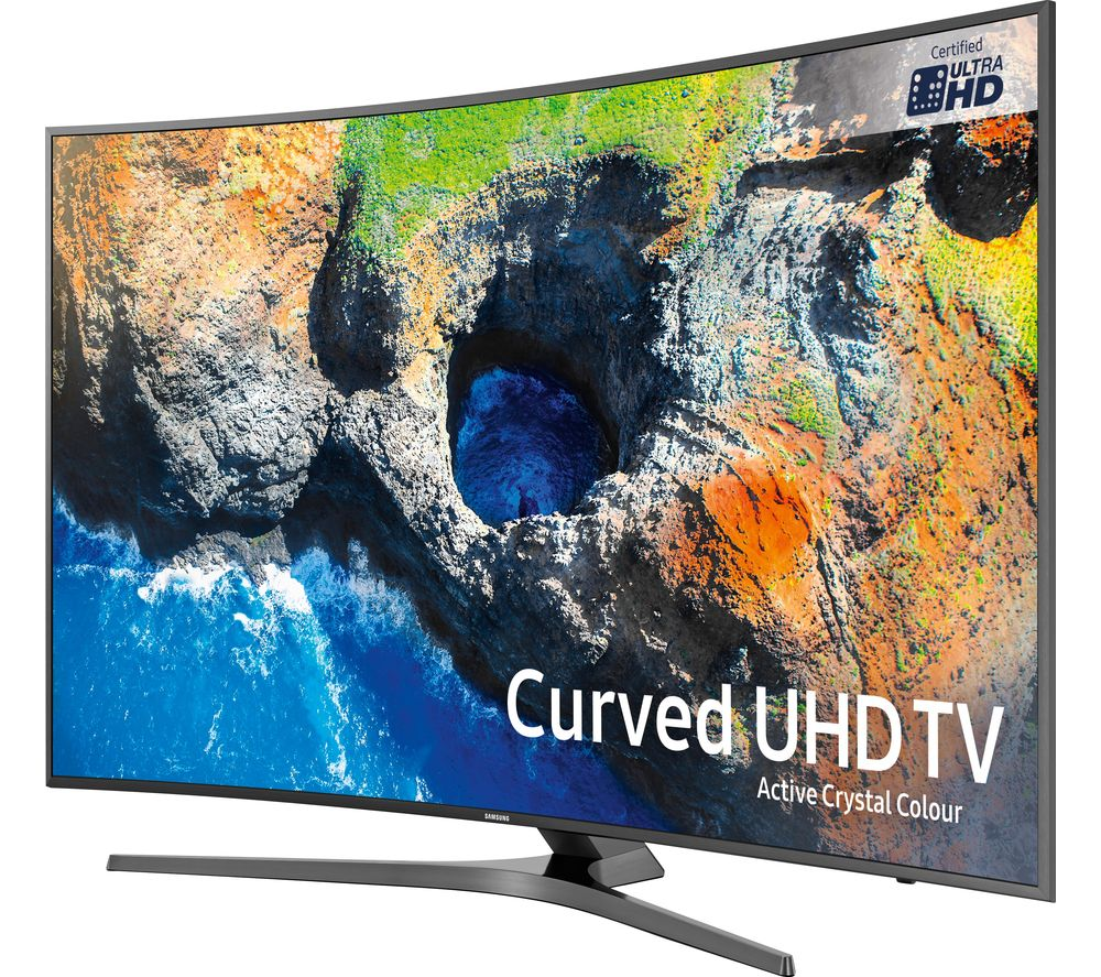 """SAMSUNG UE65MU6670 65"""" Smart 4K Ultra HD HDR Curved LED TV + S1HDM315 HDMI Cable with Ethernet - 1 m"""