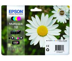 EPSON Daisy T1806 Cyan, Magenta, Yellow & Black Ink Cartridges - Multipack