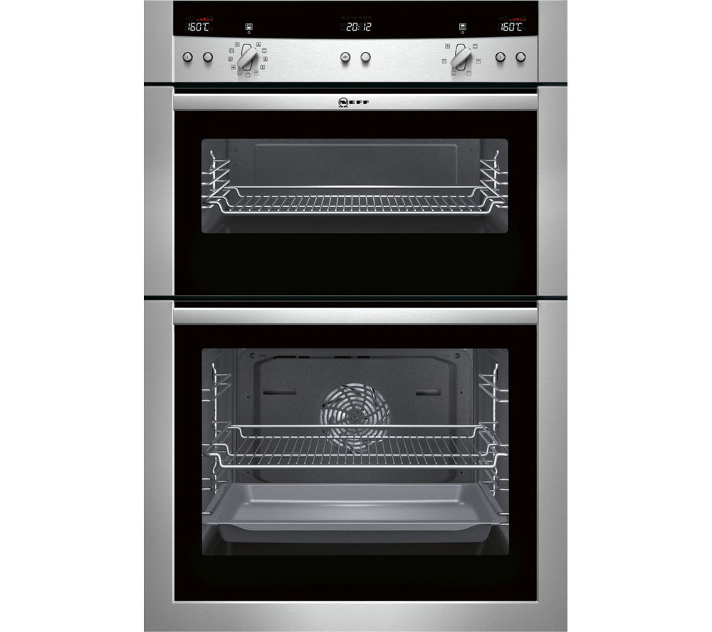 Image of Neff U15E52N3GB Electric Double Oven - Stainless Steel, Stainless Steel
