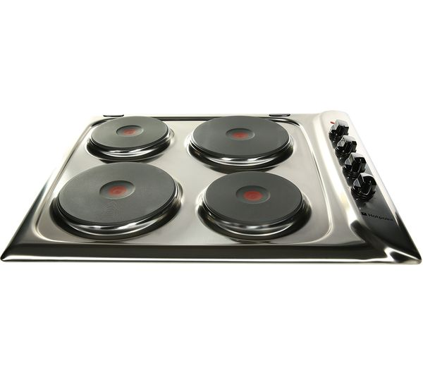 HOTPOINT  E604X Electric Solid Plate Hob  Stainless Steel Stainless Steel
