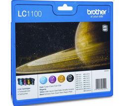 BROTHER LC1100 Cyan, Magenta, Yellow & Black Ink Cartridges - Multipack