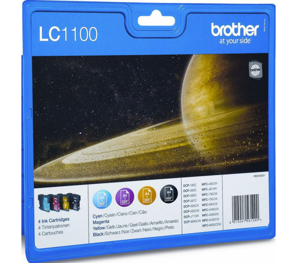 Buy BROTHER LC1100 Cyan Magenta Yellow Amp Black Ink