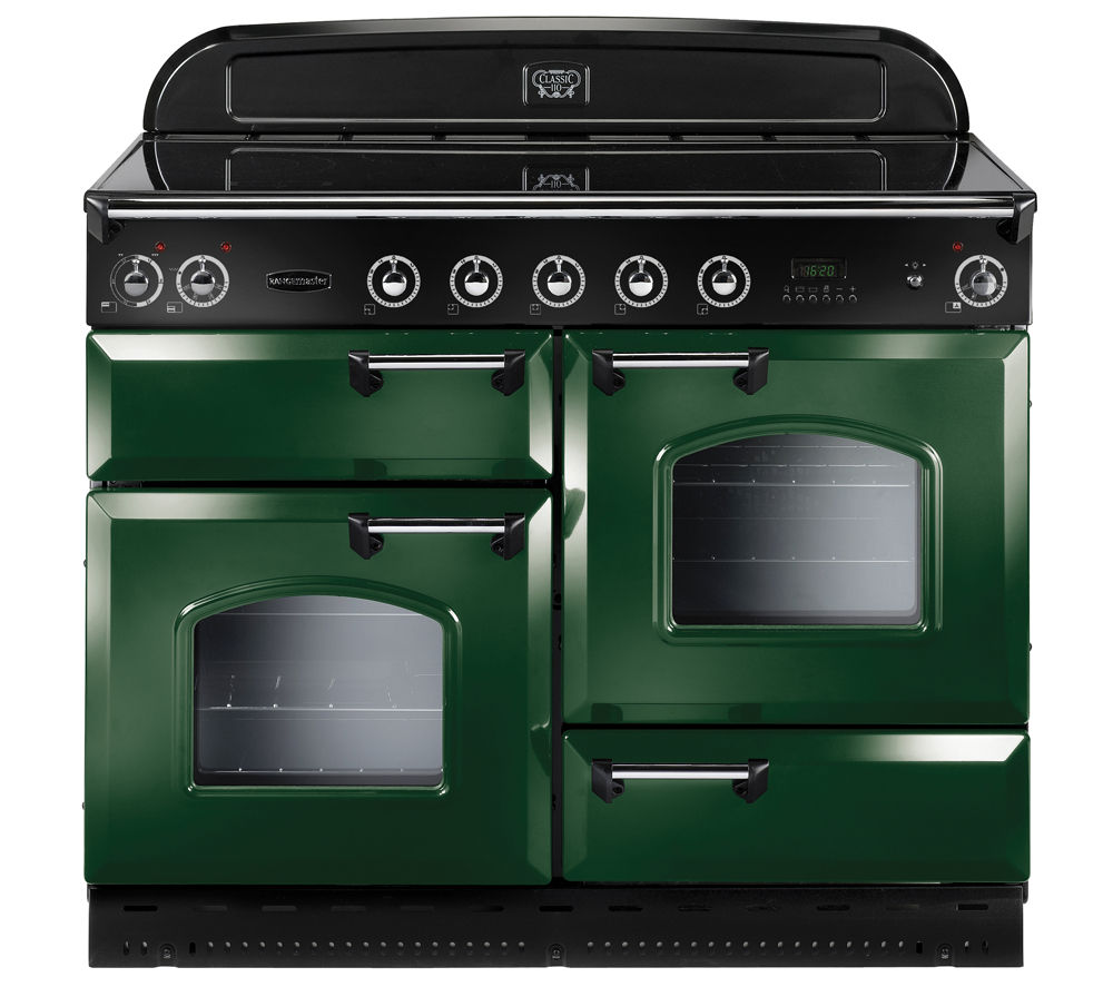 Rangemaster Classic 110 Electric Ceramic Range Cooker  Green & Chrome Green