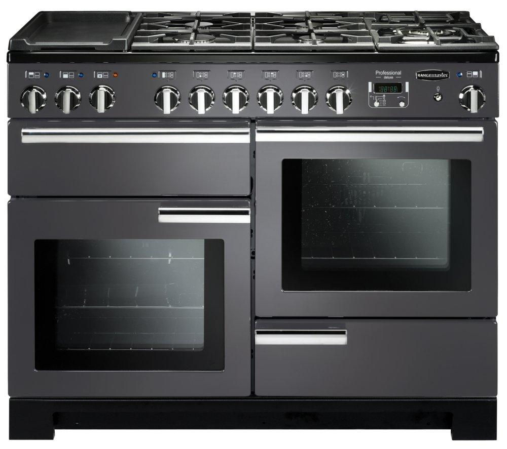 rangemaster professional deluxe 110 dual fuel range cooker. Black Bedroom Furniture Sets. Home Design Ideas