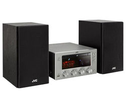 JVC UX-D150 Wireless Traditional Hi-Fi System - Titanium & Black