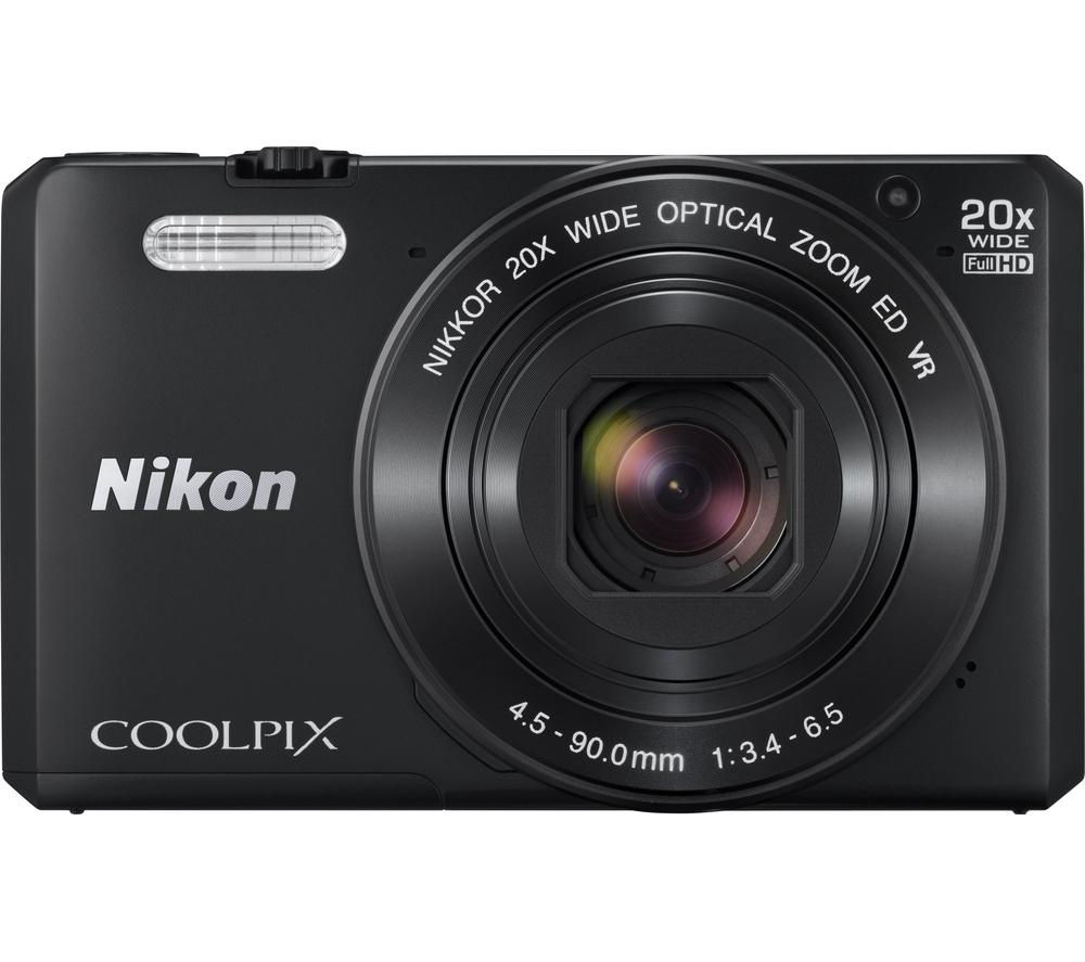 NIKON  COOLPIX S7000 Superzoom Compact Camera - Black +  Camera Case - Black