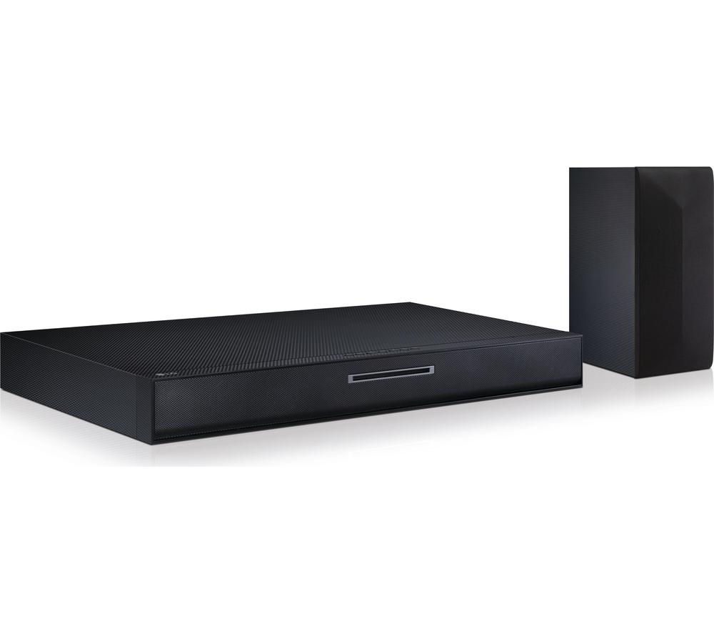LG LAB550W 2.1 200W Soundplate with Integrated Blu-Ray Player & Wireless Subwoofer - Black