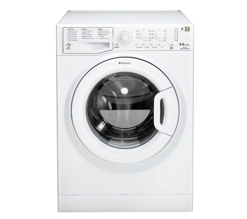 HOTPOINT  WDAL8640P Washer Dryer - White +  SISML21011P Slimline Dishwasher - White