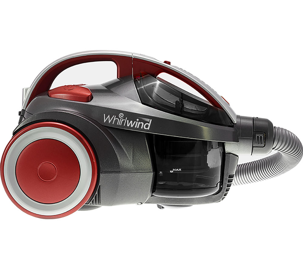 HOOVER Whirlwind SE71_WR02 Cylinder Bagless Vacuum Cleaner - Grey & Red