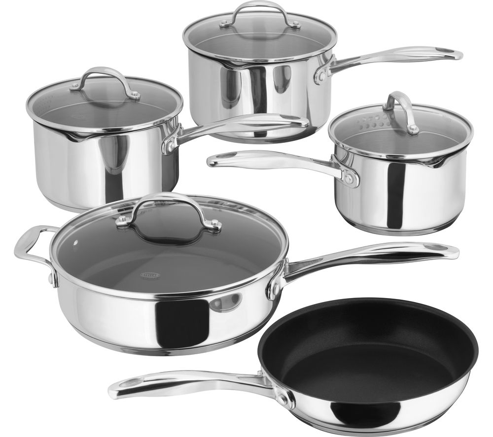 STELLAR 7000 5-piece Draining Lid Set – Stainless Steel