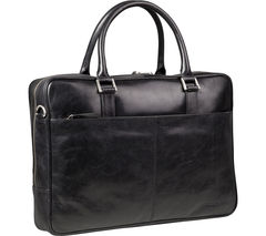 "DBRAMANTE 1928 Rosenborg 14"" Leather Laptop Bag - Black"