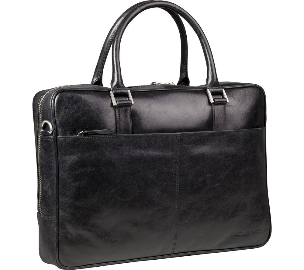 "DBRAMANTE 1928 Rosenborg 14"" Leather Laptop Bag - Black"