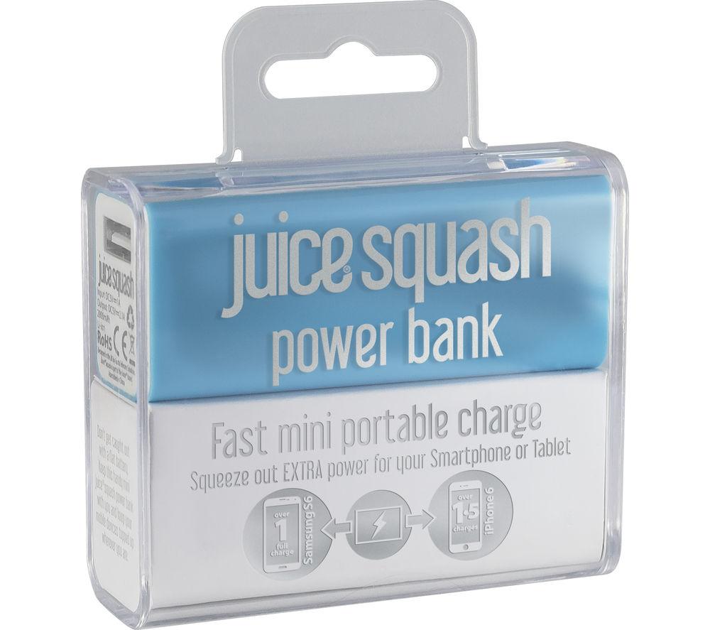JUICE Squash Mini Power Portable Power Bank - Aqua