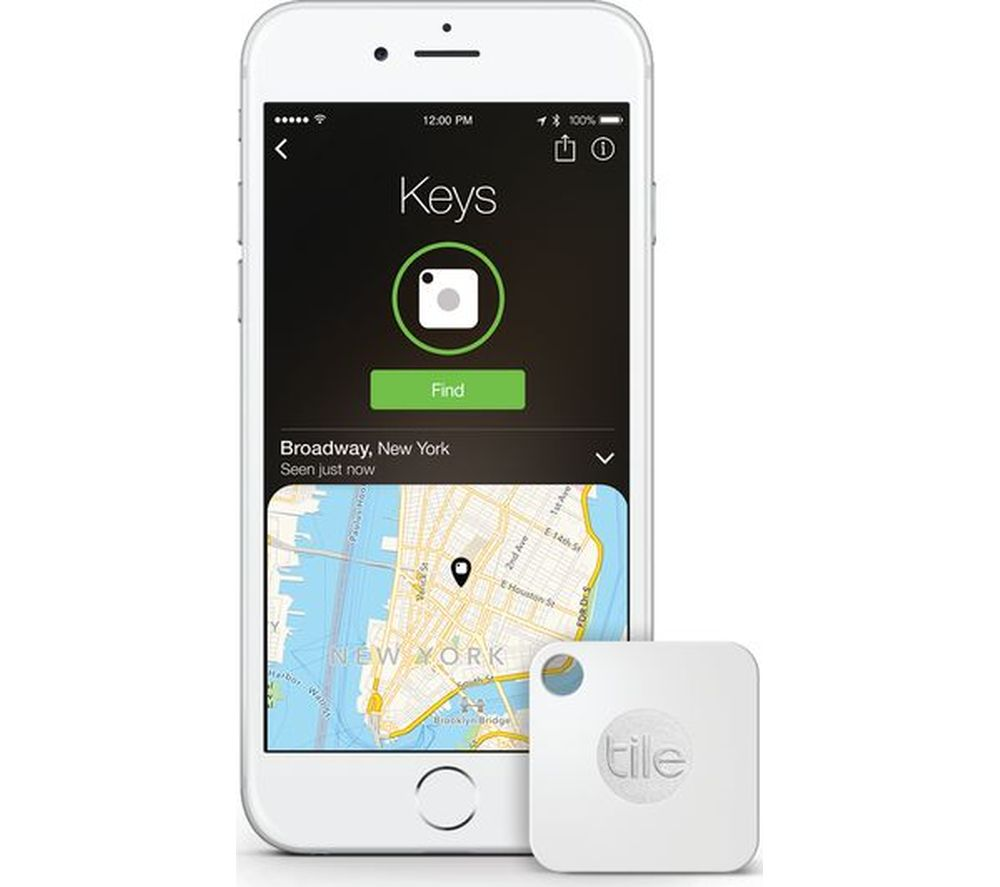 TILE KEYFINDER Gen 2 Bluetooth Tracker - White
