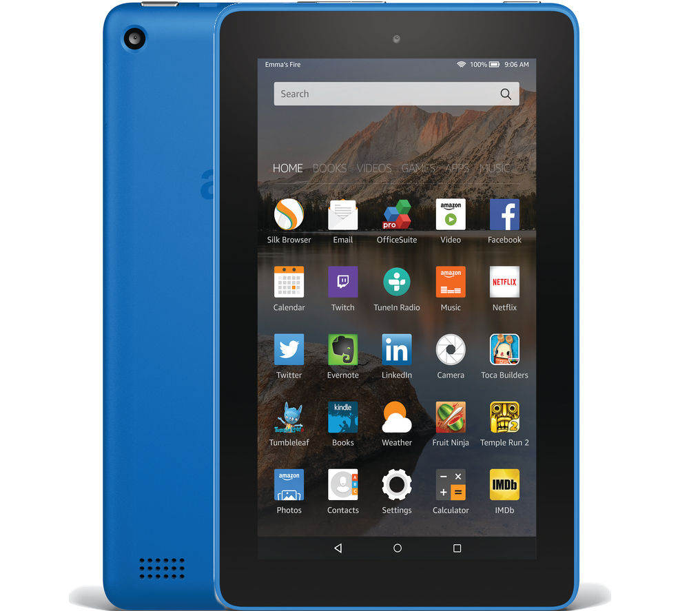 Image of Amazon Fire 7 Tablet - 16 GB, Blue, Blue