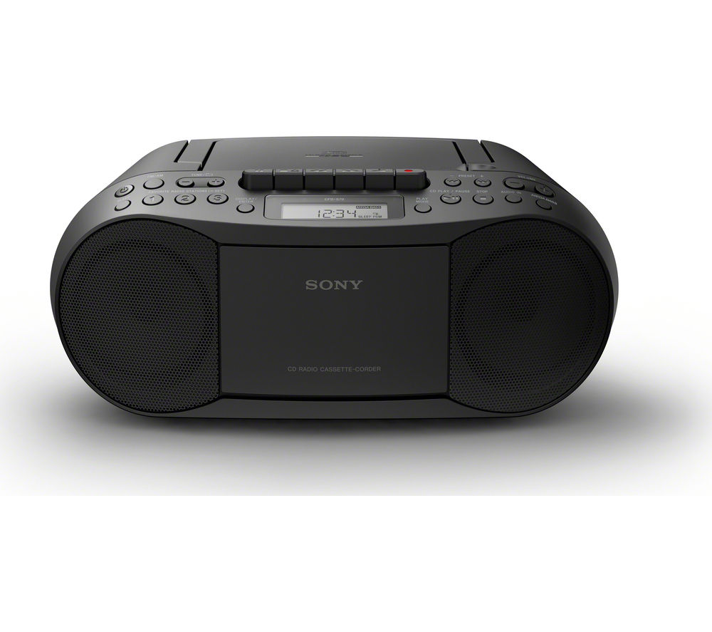 Click to view more of SONY  CFD-S70 Boombox - Black, Black