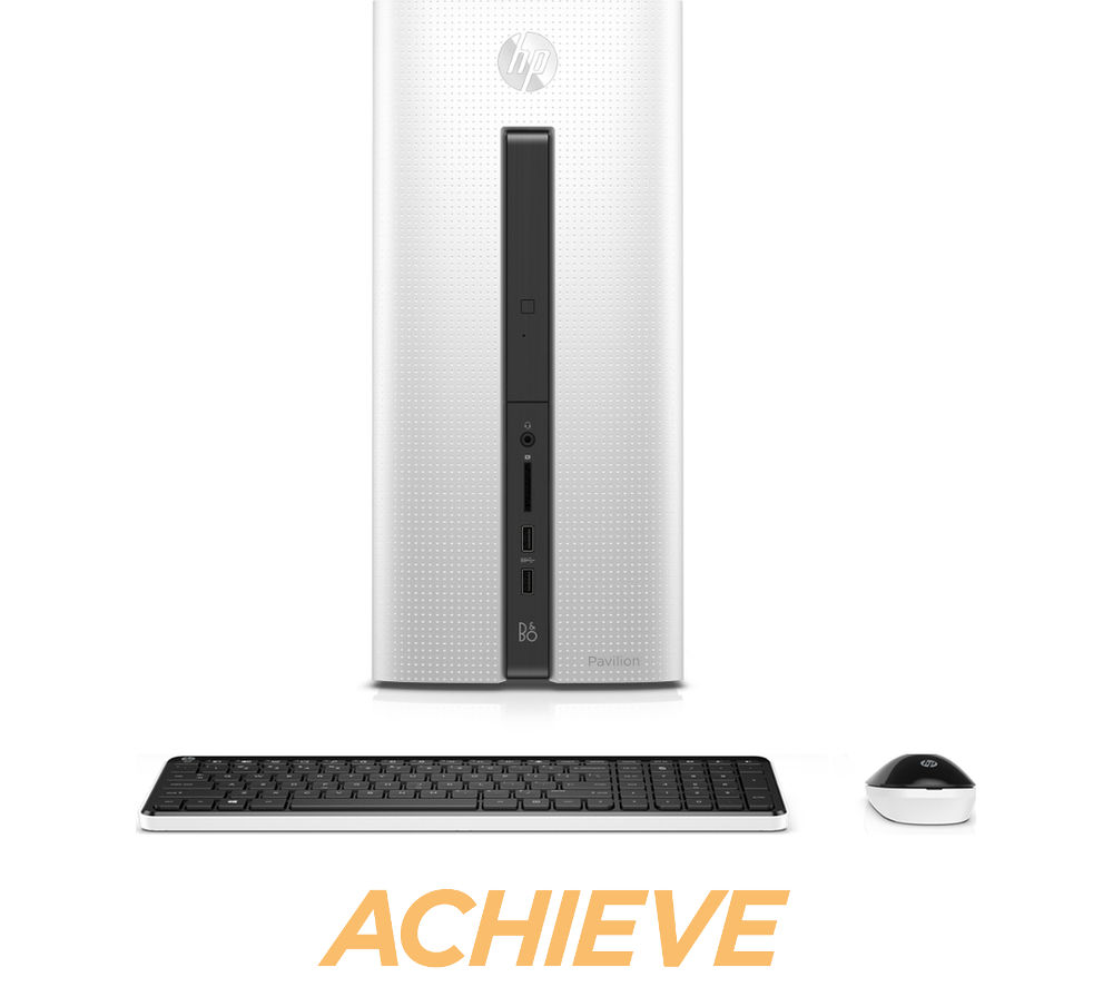 hp pavilion 550 103na desktop pc white deals pc world. Black Bedroom Furniture Sets. Home Design Ideas