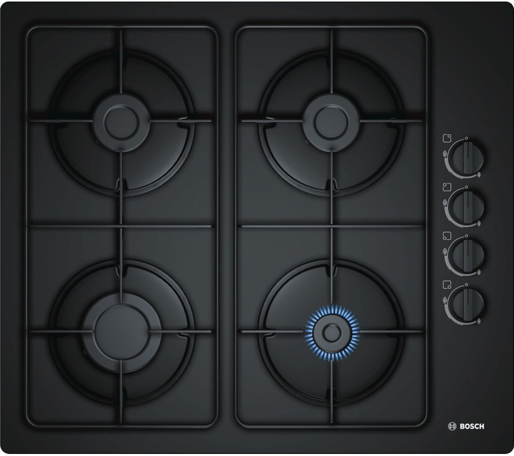 buy bosch pop6b6b80 gas hob black free delivery currys. Black Bedroom Furniture Sets. Home Design Ideas