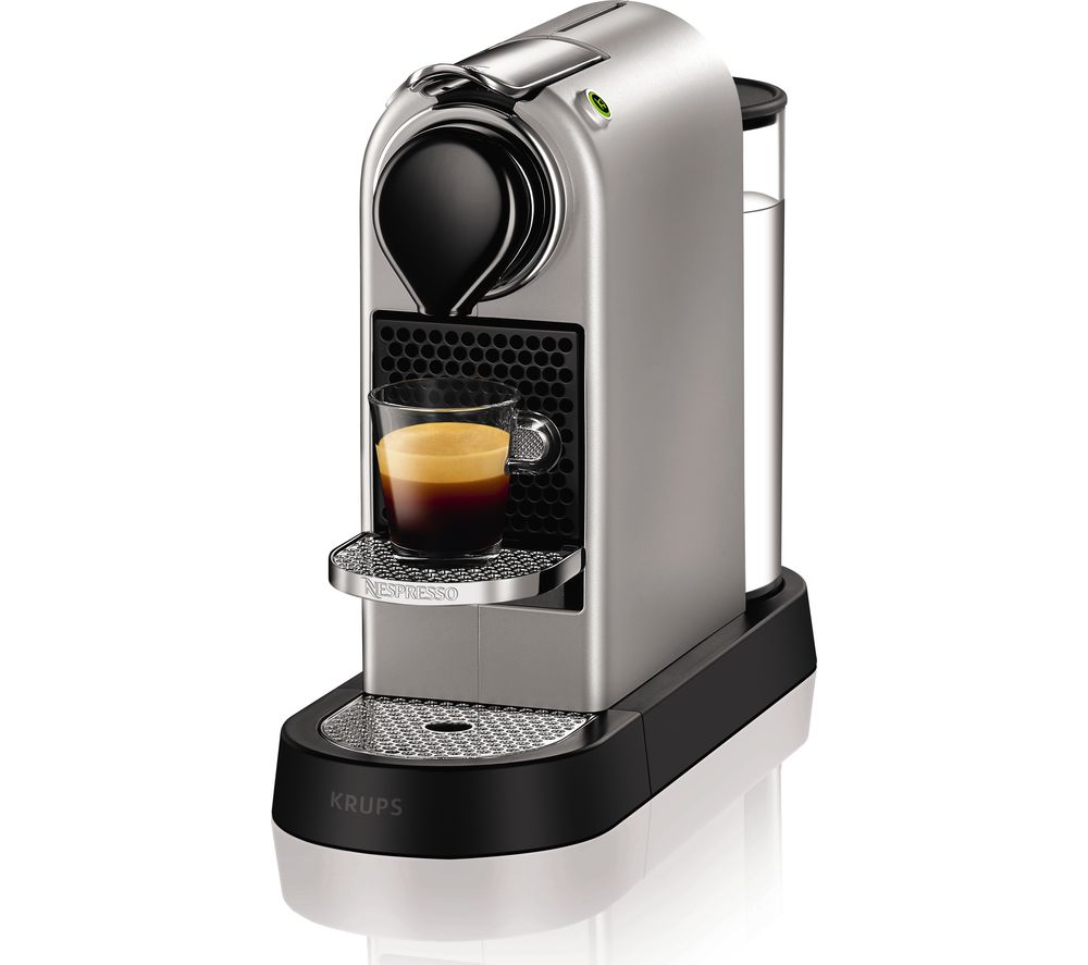 NESPRESSO  by Krups CitiZ XN740B40 Coffee Machine  Silver Silver