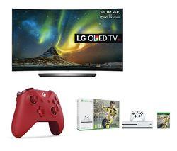 "LG OLED55C6V Smart 3D 4K Ultra HD HDR 55"" Curved OLED TV"