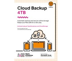 KNOWHOW Cloud Storage Backup & Share Service - 4 TB