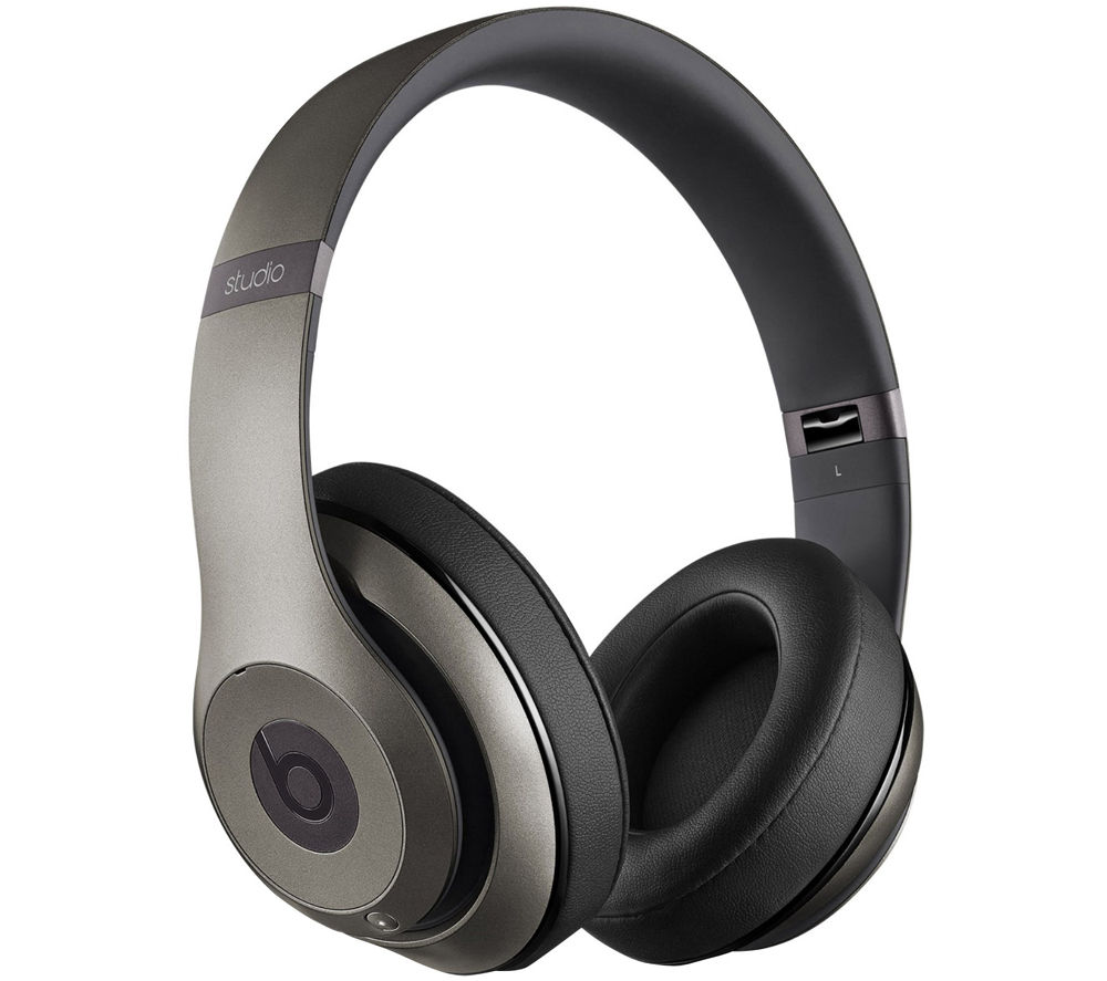 BEATS BY DR DRE Studio 2.0 Wireless Bluetooth Noise-Cancelling Headphones - Titanium