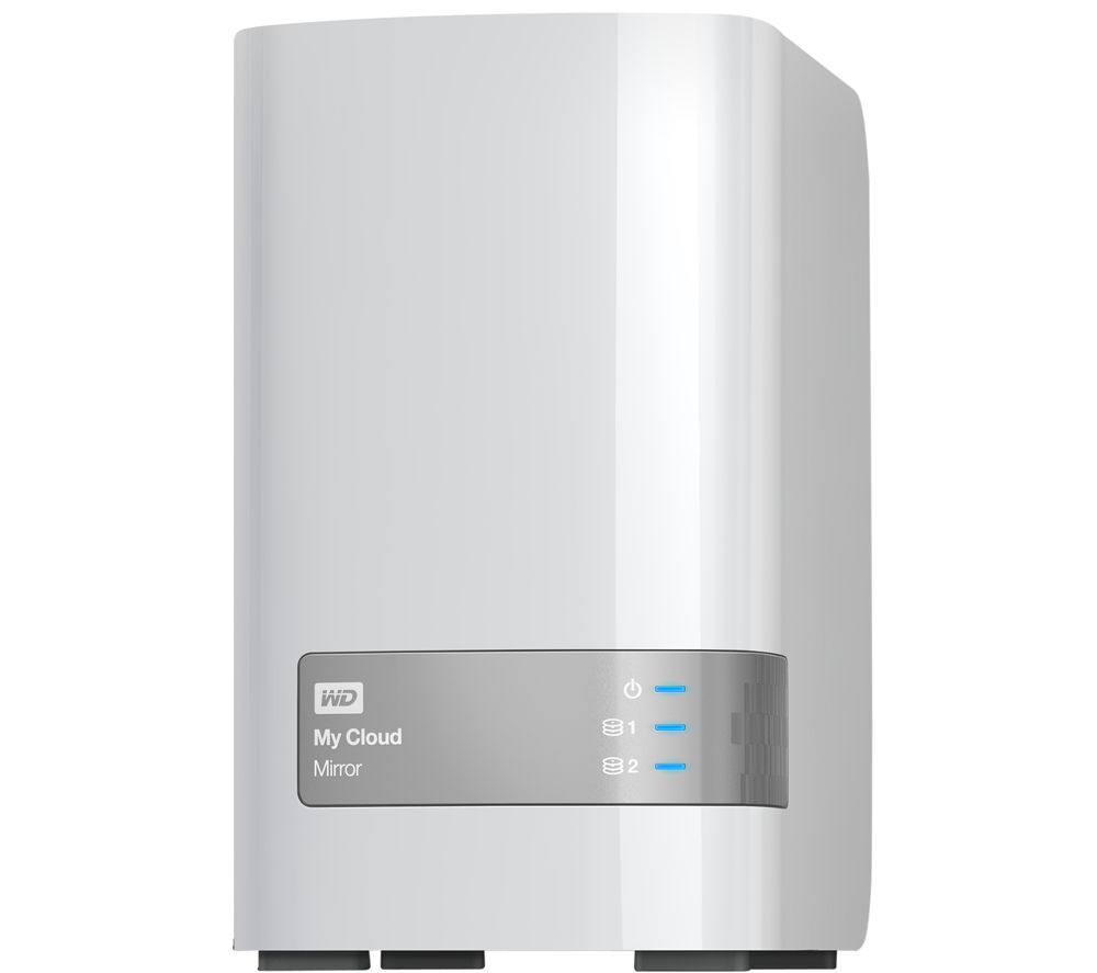 WD My Cloud Mirror Personal Cloud Storage, 6TB Dual Bay NAS
