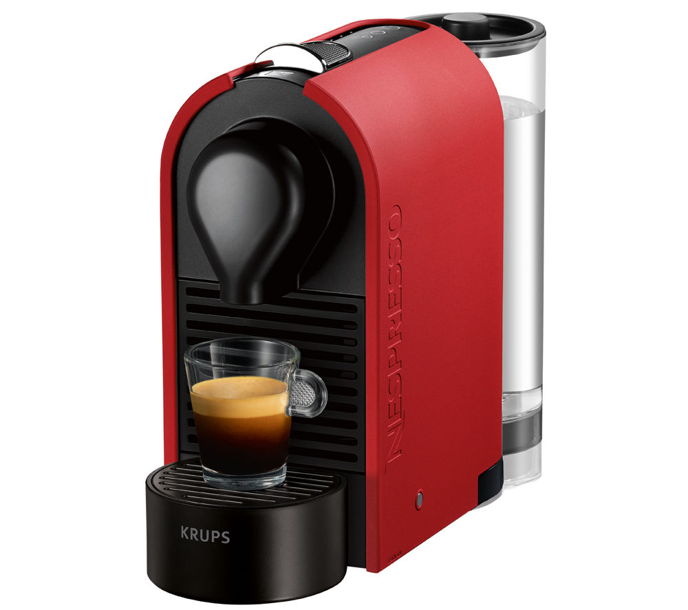 krups xn250540 nespresso u coffee machine matte red. Black Bedroom Furniture Sets. Home Design Ideas