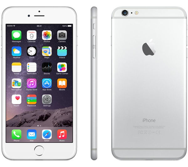 buy apple iphone 6 plus 64 gb silver free delivery. Black Bedroom Furniture Sets. Home Design Ideas