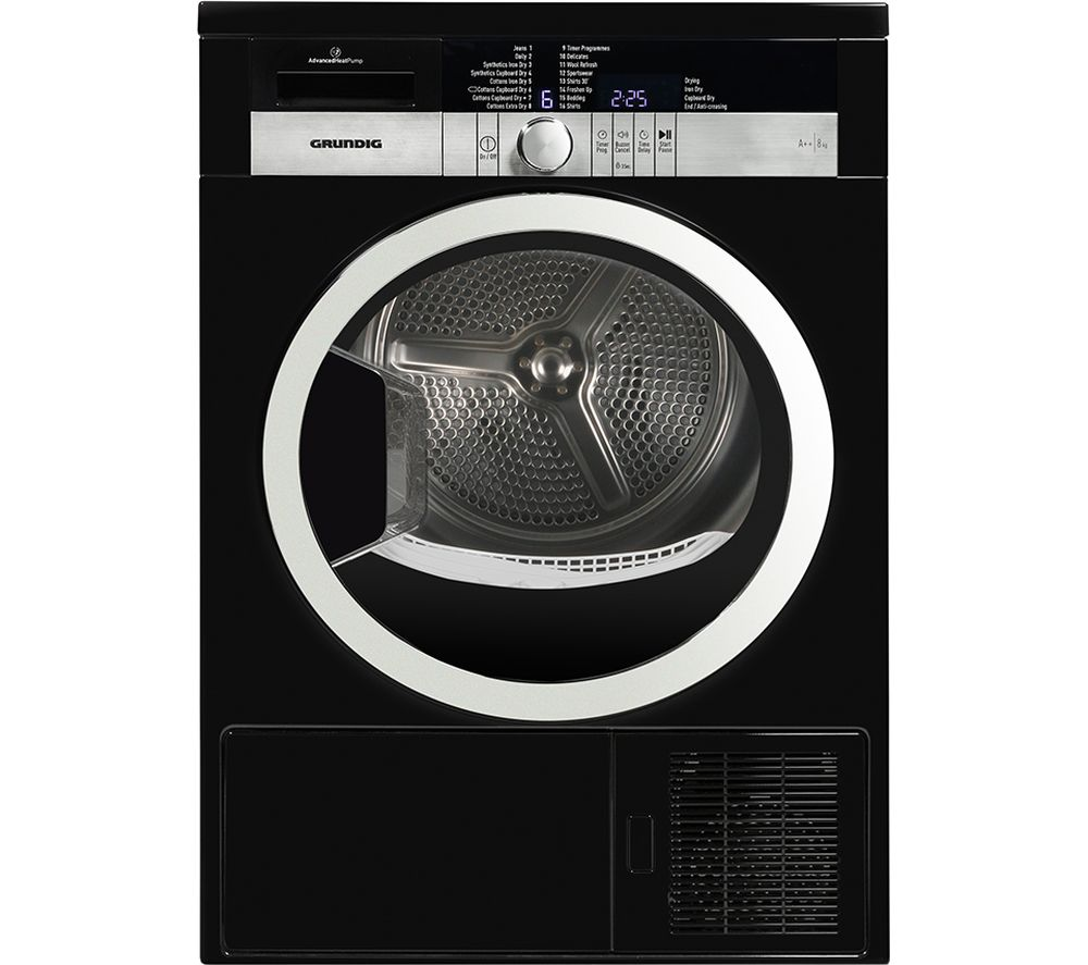 GRUNDIG  GTN38250HGCB Heat Pump Tumble Dryer  Black Black