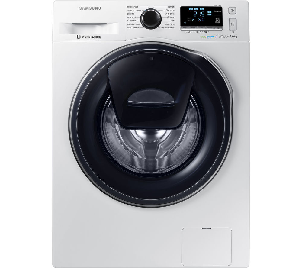 Samsung Washing Machine ~ Buy samsung addwash™ ww k qw washing machine white