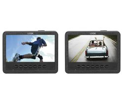 LOGIK L7DUAMM16 Dual Screen Portable DVD Player - Black & White