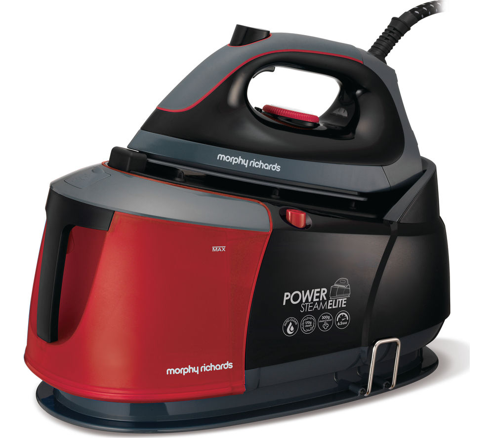 Morphy Richards Store: Buy MORPHY RICHARDS Power Steam Elite 332006 Steam Generator Iron - Black & Red