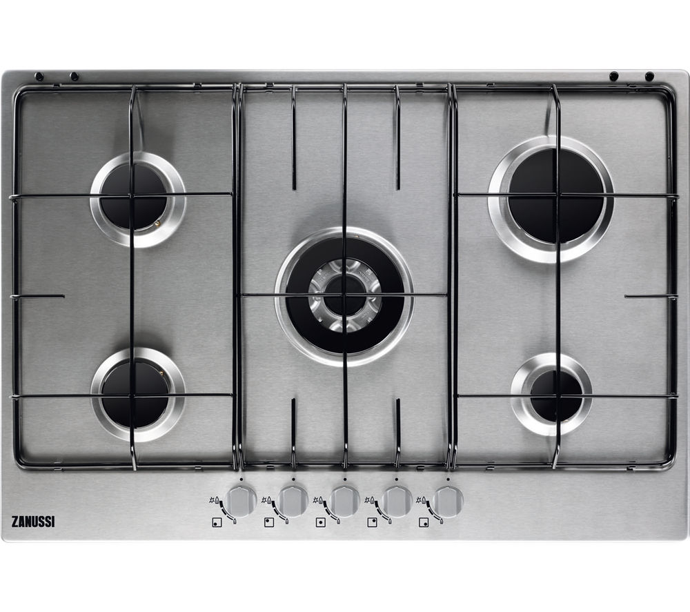 ZANUSSI  ZGG75524SA Gas Hob  Stainless Steel Stainless Steel