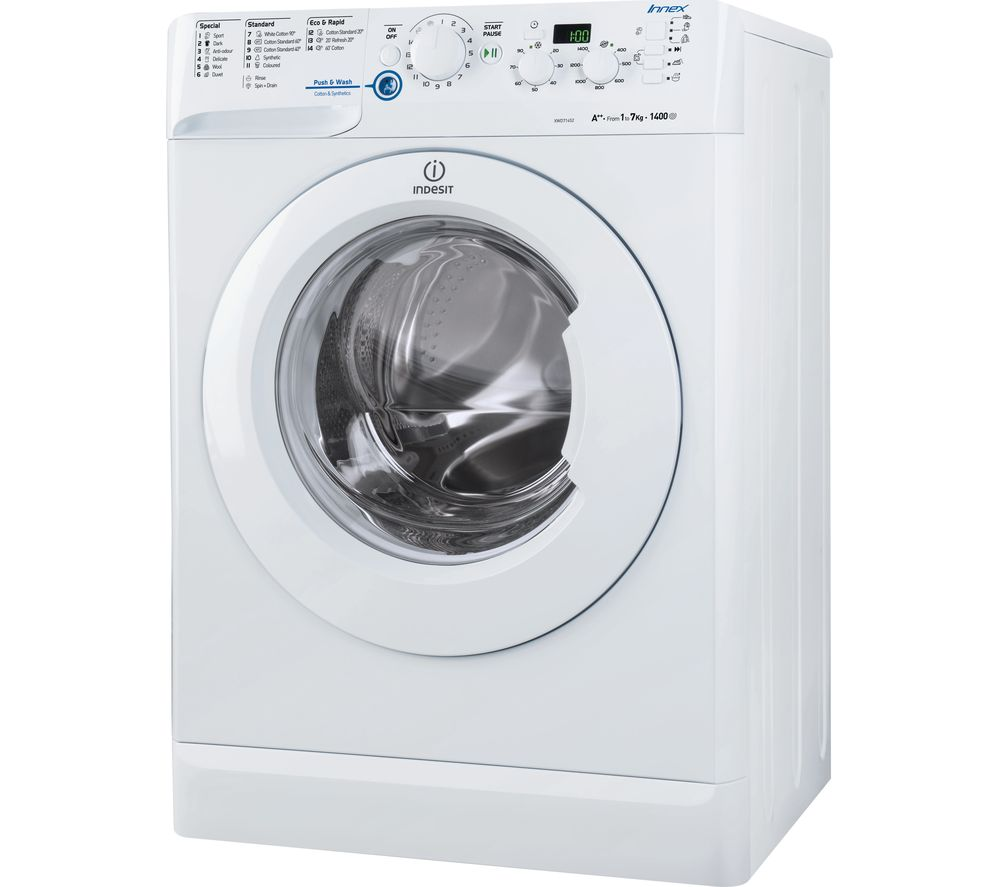buy indesit xwd71452w washing machine white free. Black Bedroom Furniture Sets. Home Design Ideas