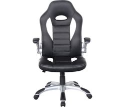 ALPHASON Talladega Gaming Chair - Black & White