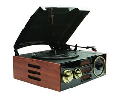 GPO Empire Turntable - Black & Brown