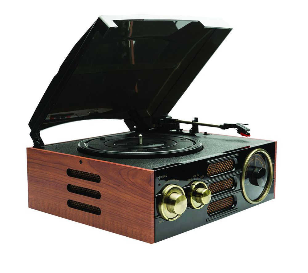 Click to view more of GPO  Empire Turntable - Black & Brown, Black