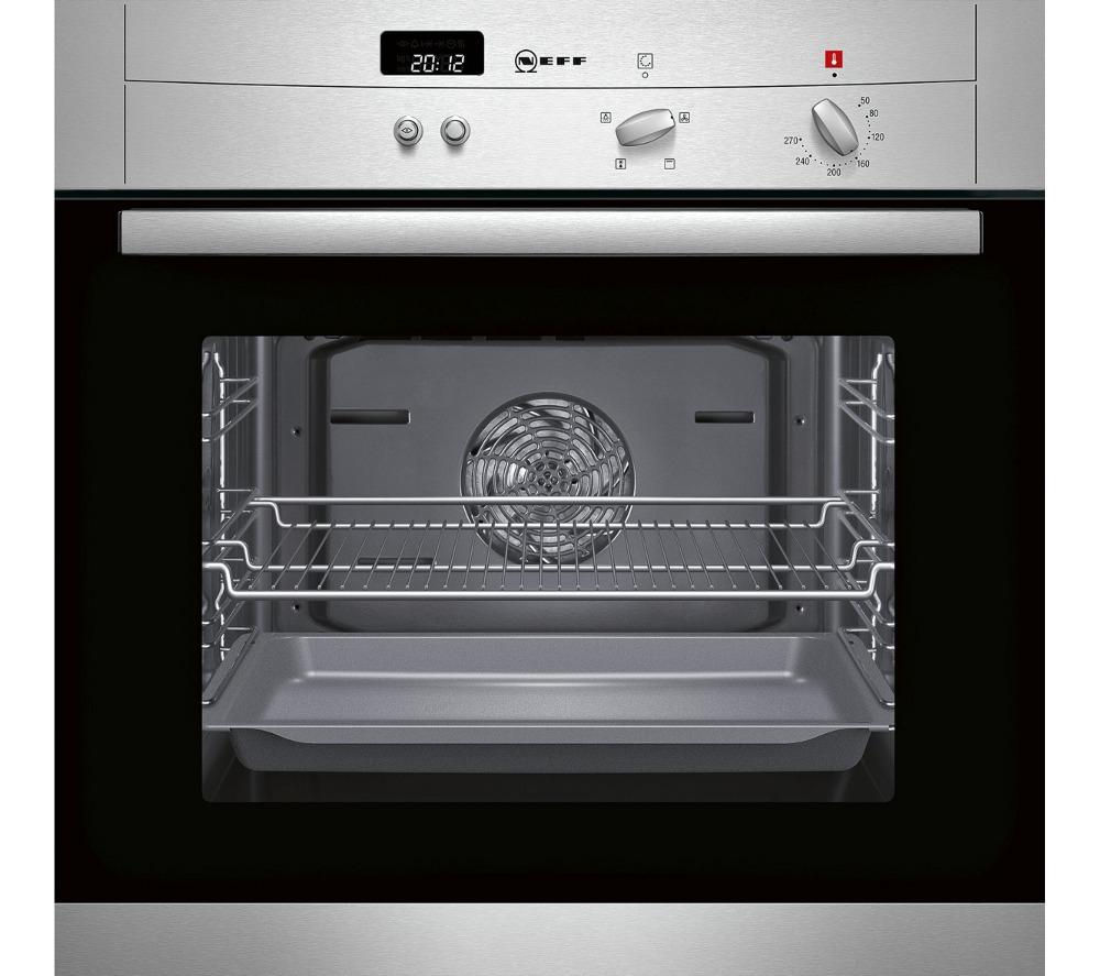 Buy neff b12s32n3gb electric oven stainless steel free delivery currys - Neff electric ...