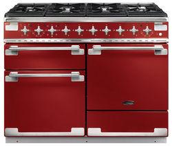 RANGEMASTER Elise 110 Dual Fuel Range Cooker - Cherry Red & Chrome