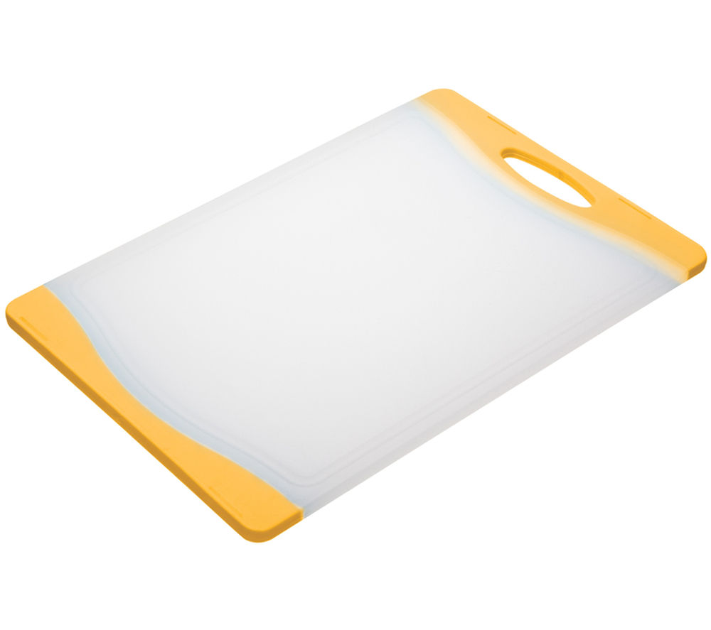 COLOURWORKS 35 cm x 24 cm Cutting Board - Yellow