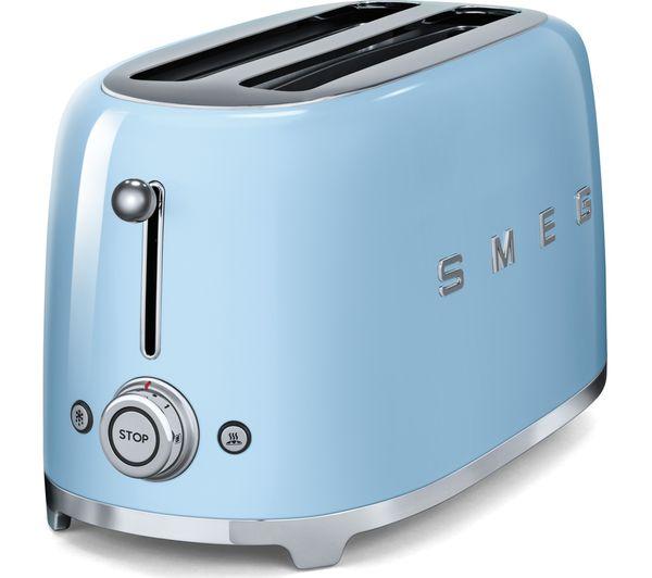 Buy Smeg Tsf02pbuk 4 Slice Toaster Pastel Blue Free