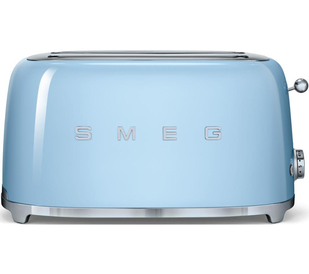 Buy Smeg Tsf02pbuk 4 Slice Toaster Pastel Blue Free: kitchen appliance reviews uk
