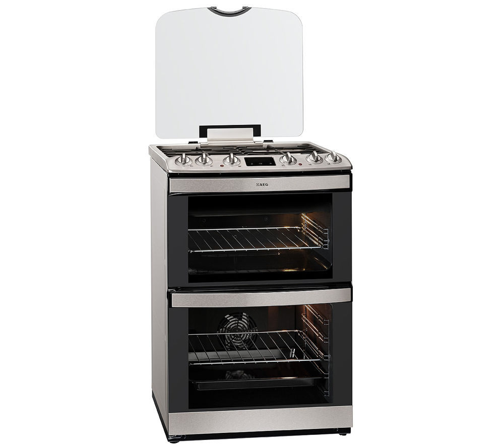 AEG 47132MM-MN Dual Fuel Cooker - Stainless Steel