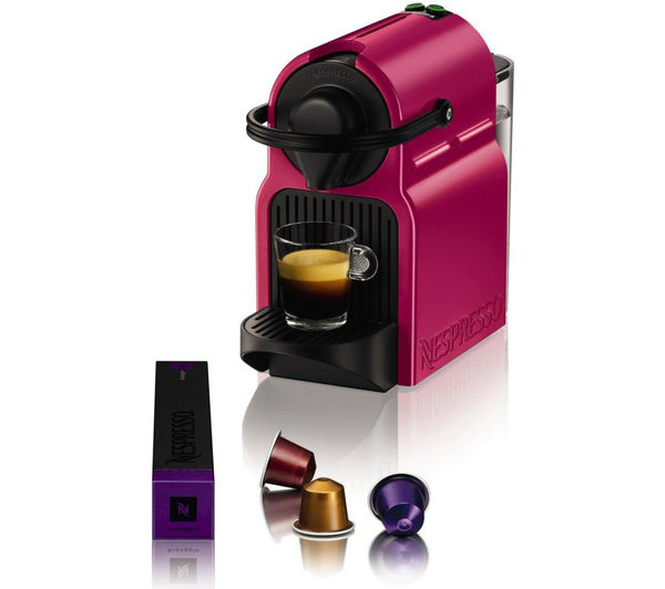 buy krups nespresso inissia xn100740 coffee machine fuchsia free delivery currys. Black Bedroom Furniture Sets. Home Design Ideas