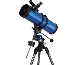 Meade Polaris 130MD EQ Reflector Telescope - Blue